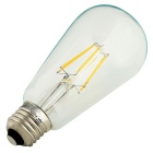 Youoklight E27 6W 550lm blanc chaud ampoule à filament - transparent