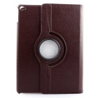 Protective PU Case Cover w/ Auto Sleep, Stand for IPAD AIR - Brown