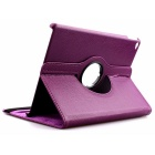 Protective PU Case Cover w/ Auto Sleep, Stand for IPAD AIR - Purple