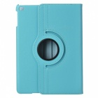 Lychee Pattern 360' Rotating PU + ABS Case for IPAD AIR 2 - Light Blue