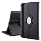 Lychee Pattern 360' Rotating PU + ABS Case for IPAD AIR 2 - Black