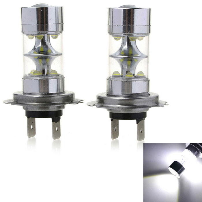 Marsing H7 50W 10-XPE LED Car Fog Light / Headlamp White Light (2PCS)