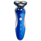 RQ1150 IPX7 Waterproof Rechargeable Electric Shaver for Men - Black + Blue (US Plug / 100-240V)
