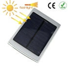 Outdoor Camping 5000mAh Li- Po Solar Power Bank w/ Dual USB & LED Light - Silvery Grey + Black