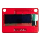 "0.91"" IIC OLED Display Module - Red (3.3~5V)"