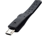 7cm USB Male to Micro USB Male Data / Charging Cable - Black (4 PCS)