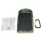 7000mAh Mobile Solar Panel Power Bank w/ Dual USB - Camouflage
