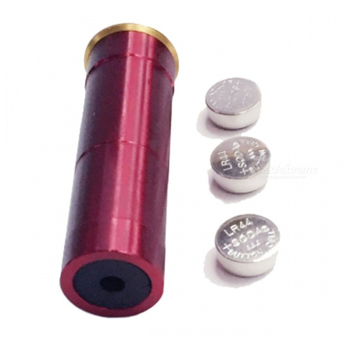 20GA Cartridge Red Laser Sighter Boresighter Sighting Device - Red