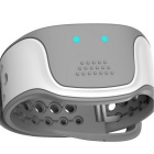 Bluetooth Pulse Wave Health Bracelet w/ Heart Rate - White + Silver