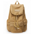 CADEN F5 Casual Canvas Camera Backpack - Khaki