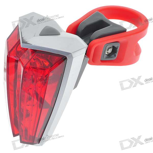 3-Mode 5-LED Bicycle Tail Light (2*AAA)