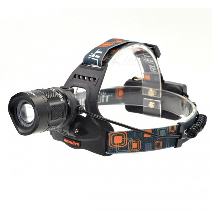 BORUIT RJ-2157 Waterproof XM-L 5-Mode 1000lm White Bike Headlamp