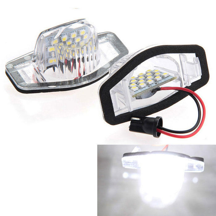 Qook 1.44W 18-LED White License Plate Light Lamp for Honda CR-V (2PCS)