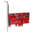 WBTUO LT304-NS Desktop PCI-E to M.2 (NGFF) / SATA 3.0 Transfer Card - Red