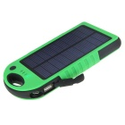 7000mAh Mobile Solar Panel Power Bank w/ Dual USB / LED - Green