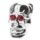 ZHISHUNJIA Red Light Skull-Shape Bicycle Tail Light w/ Laser - Silver
