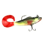 Realistic Red Tail Fish Style Fishing Bait w/ Hooks - Multicolor