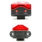 ZHISHUNJIA HWD05 Bicycle 5-LED 5-Mode Red Laser Tail Light - Red
