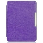 "EPGATE Protective PU Leather Flip-Open Case Cover for 6"" KOBO GLO HD E-Book - Purple"