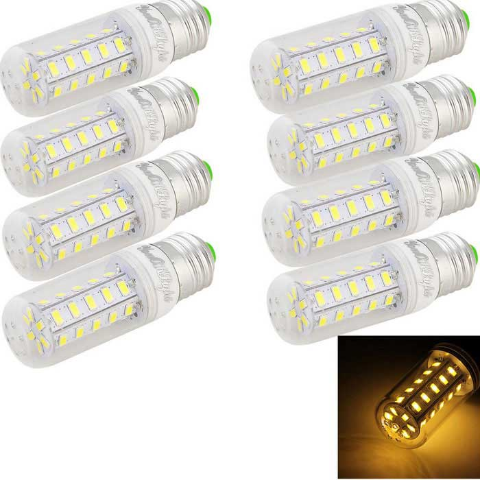 YouOKLight E27 7W LED Corn Lamps Warm White 3000K 680lm 36-SMD (8PCS)