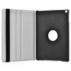 360' Rotating PU + ABS Case w/ Stand / Auto Sleep for IPAD AIR - White