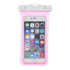 MAIKOU Universal Touch Screen Underwater Phone Bag Pouch Waterproof Case w/ Bike Mount - Pink