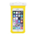 MAIKOU Universal Touch Screen Underwater Phone Bag Pouch Waterproof Case w/ Bike Mount - Yellow