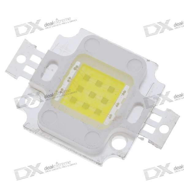 10W 700LM Cold White Light LED Metal Plate Module (10V~11V)