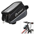 "INBIKE IB289 Outdoor Cycling Bike Top Tube Bag w/ Touch Screen Case for 4.8"" Phones - Black"
