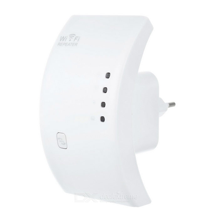 Network Signal Amplifier Wi-Fi AP Repeater w/ WPS, EU+US Plugs - White