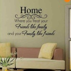 DIY Removable Romantic Home Decor Wall Decal Sticker - Black