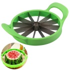 Stainless Steel Melon / Watermelon / Cantaloupe Slicer Cutter - Green