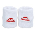NatureHike Breathable Cotton Fitness Running Sports Wrist Bands Supports Bracers - White (2 PCS)