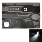 Switzerland Outdoor Multifunctional Tool Set - Black