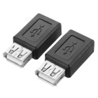 USB 2.0 to Micro USB Converter Adapter - Black (2pcs)