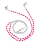 Beads Pattern In-Ear Earphones w/ 3.5mm Jack - Deep Pink + White