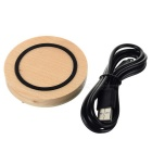 Qi Wireless Wooden Transmitter for Samsung S6 Edge + More - Wood Color