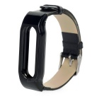 Cow Leather + ABS Wrist Band for Xiaomi Bracelet - Black