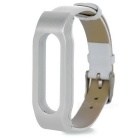 Cow Leather + ABS Wrist Band for Xiaomi Bracelet - White