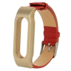 Cow Leather + ABS Wrist Band for Xiaomi Bracelet - Red + Light Yellow