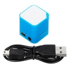 Mini USB MP3 Player w/ TF Slot / 3.5mm Jack Plug - Blue + White