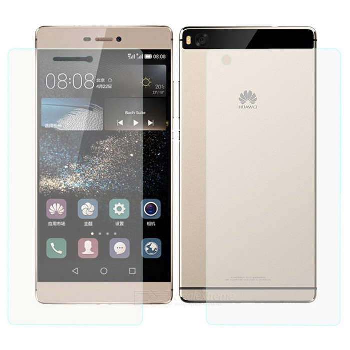 Mr.northjoe Front + Back Glass Film for Huawei Ascend P8 - Transparent