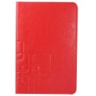 Protective PU Leather + Plastic Case Cover w/ Stand for Samsung Galaxy Tab A 8.0 T350 - Red
