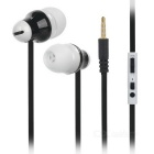 Universal In-Ear Earphones w/ Microphone for IPHONE / Samsung / HTC / Nokia + More - Black (3.5mm)