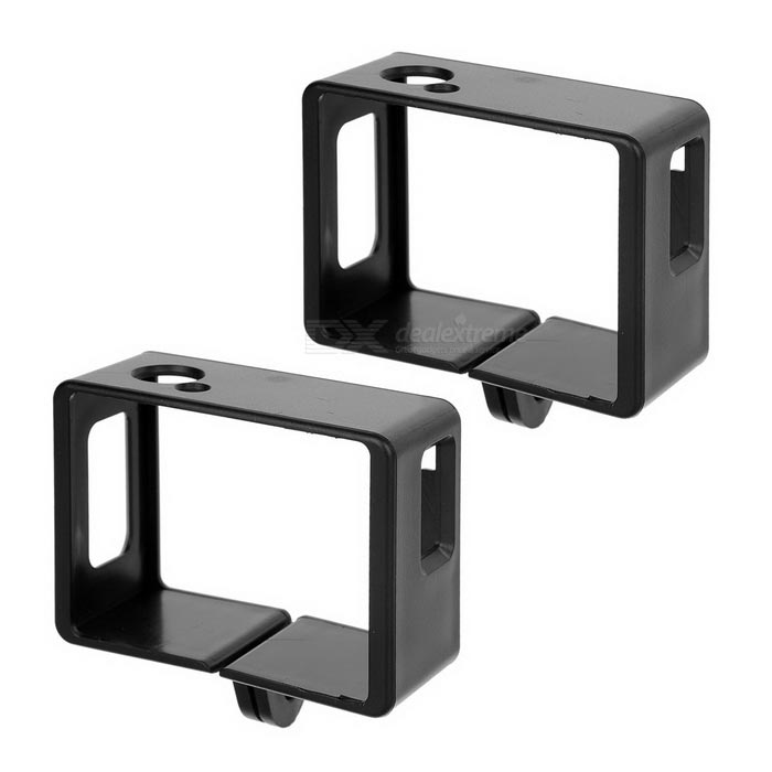 Camera Frame Holders for SJ6000 / SJ5000 / SJ4000 - Black (2PCS)
