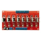 8-Channel PLC DC Amplifier Plate Board - Red + Multi-Colored