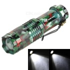 SHARP EAGLE XP-E Q5 LED 122lm 3-Mode White Light Zooming Flashlight Torch - Camouflage (1 x 14500)