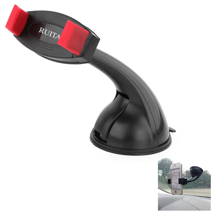 RUITAI Rotation Car Mount Holder for IPHONE 6, 6 PLUS - Black + Red