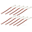 72W Wired RGB LED Light Strip 3-Key Mini Remote Controls - White + Red (DC 12V / 10PCS)