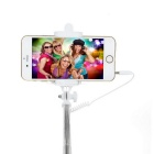 Selfie Monopod w/ 3.5mm Audio Cable for 5.5~8.5cm Phones - Grey